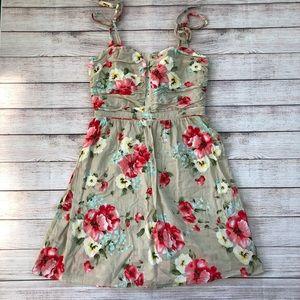 Miss Sixty Floral Sundress Tie Straps Size 10
